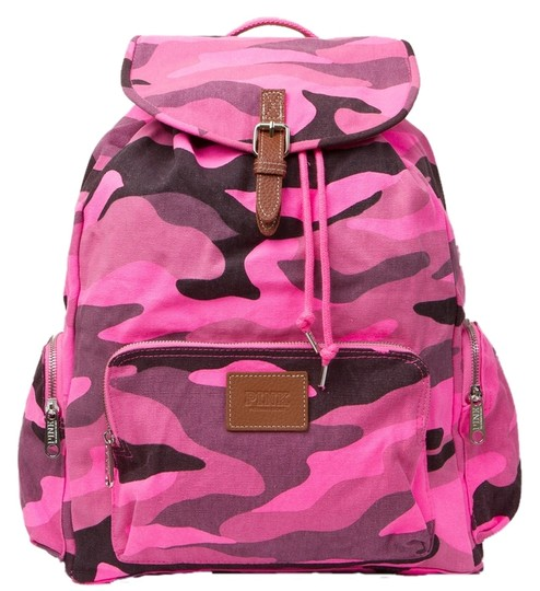 Preload https://img-static.tradesy.com/item/1857599/pink-victoria-s-secret-camo-cotton-canvas-backpack-0-0-540-540.jpg