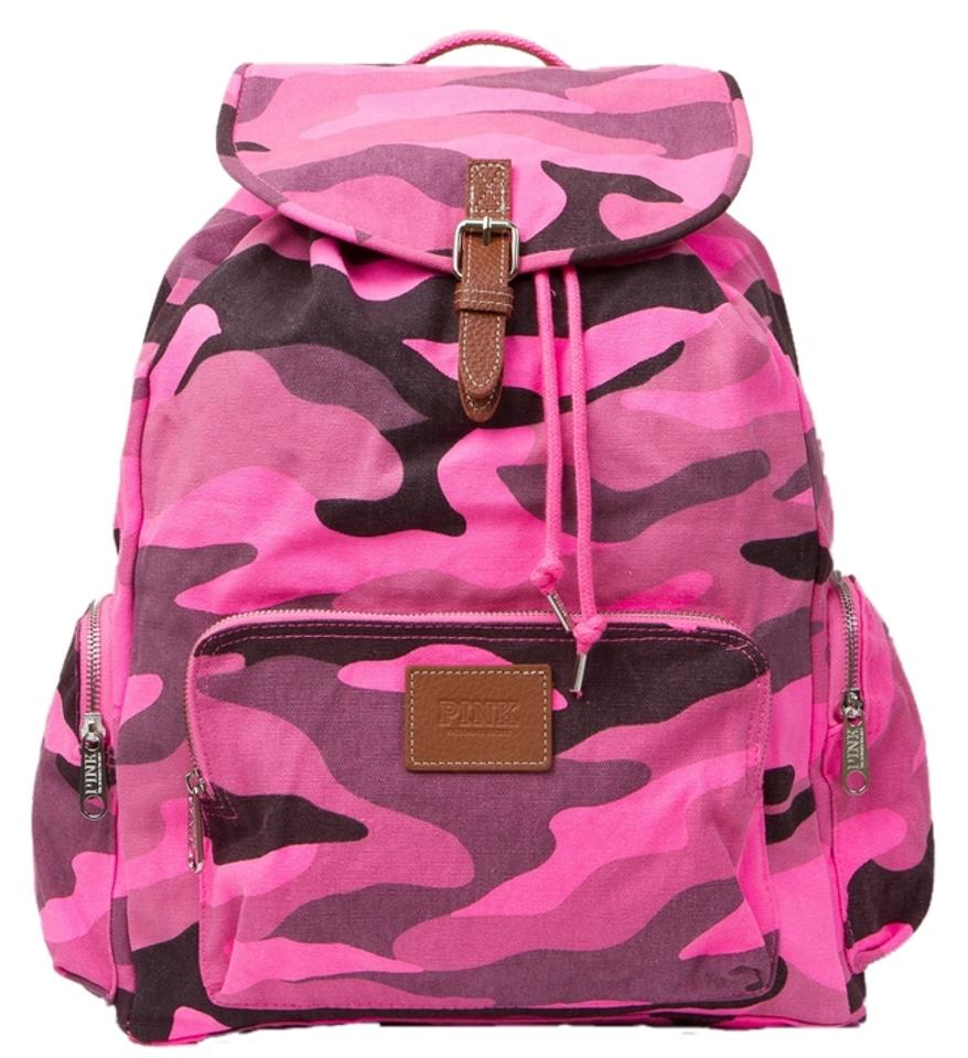 6370dfc6dc9 PINK Victoria s Secret Camo Cotton Canvas Backpack - Tradesy