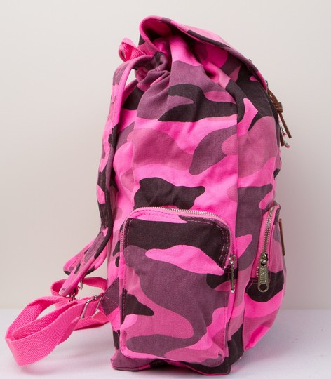 PINK Limited Edition Canvas Cotton Backpack Image 7