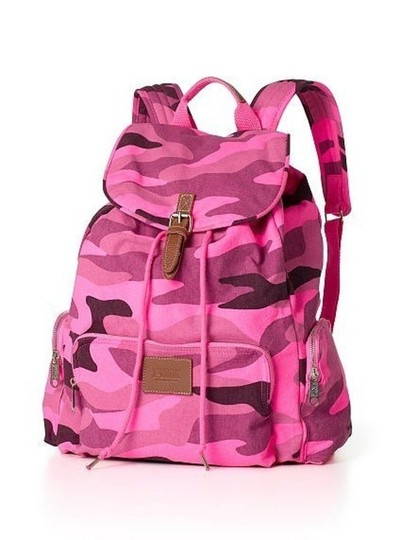 PINK Limited Edition Canvas Cotton Backpack Image 9
