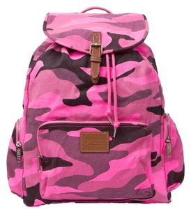 PINK Limited Edition Canvas Cotton Camo Backpack
