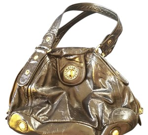 Marc by Marc Jacobs Patent Leather Gold Turnlock Hobo Bag