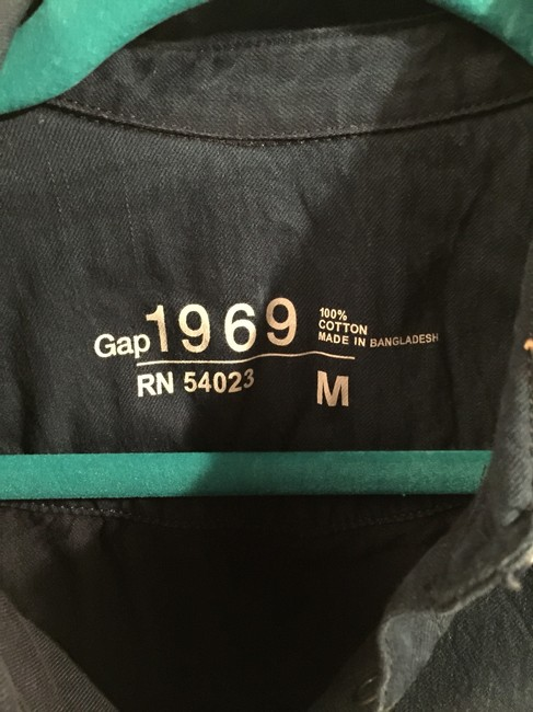 Gap Ombre New With Tag Faded Snaps Snap Front Button Down Shirt Denim