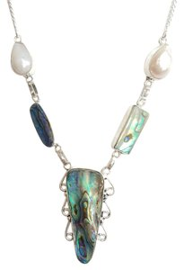 Other Abalone and Biwa Pearl 925 Sterling Silver Necklace