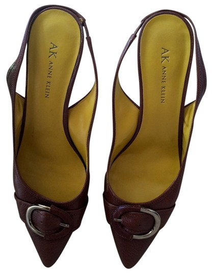 Anne Klein Buckle Slingbacks Pointy Rusty Light Brown Brown Dress Light Brown/Rusty Pumps