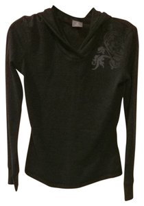 Icebreaker Women's Long Sleeve Hood - Charcoal