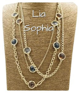 Lia Sophia New Lia Sophia Multi Strand Gold Tone Necklace