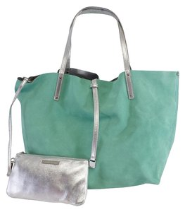 Tiffany & Co. Blue Silver Suede Reversible Tote