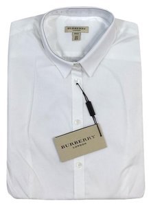 Burberry White Cotton Button Up Shirt Button Down Shirt
