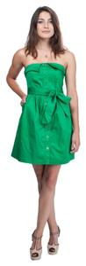 Other short dress Emerald Green Summer Green Strapless Cotton on Tradesy