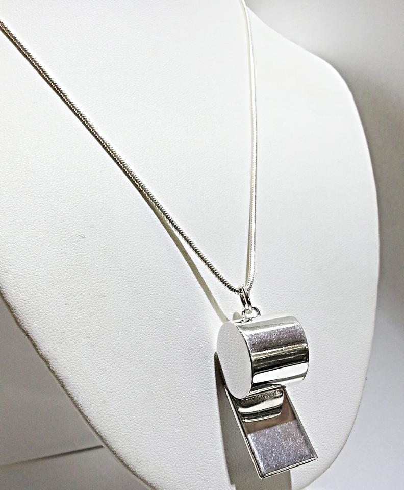 8cc072fe0fee Tiffany   Co. Sterling Silver Whistle with Snake Chain Necklace ...