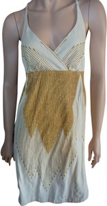 Ecote short dress gold Metallic Embroidered on Tradesy