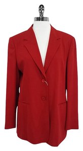 Max Mara Red Lightweight Wool Suit Jacket
