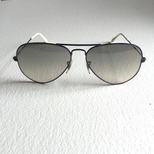 322f94a61e Ray-Ban Silver Metal Frame Crystal Gray Gradient Lens Cockpit ...