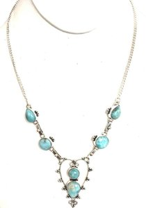 Dominican Larimar 925 Sterling Silver Necklace