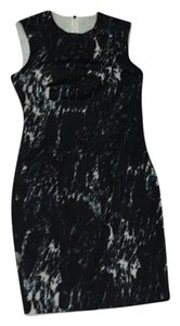 Carmen Marc Valvo Aqua Teal Marble Dress