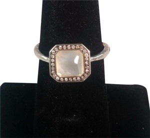 Ippolita Ippolita Stella Mother of Pearl Square Sterling Silver Diamond Ring