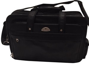 Samsonite Laptop Messenger Black Leather Travel Bag