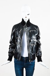 Dolce&Gabbana Dolce Gabanna Leather Black Jacket