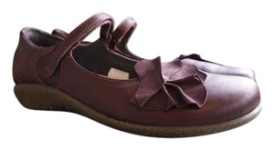 Naot Flower Comfortable Shiraz Leather/Violet Nubuck/French Roast Leather Flats