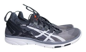 Asics Breathable Comfortable Ombre Black/white/gray Athletic
