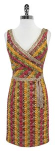 Kay Unger short dress Multi Color Knit Sleeveless on Tradesy