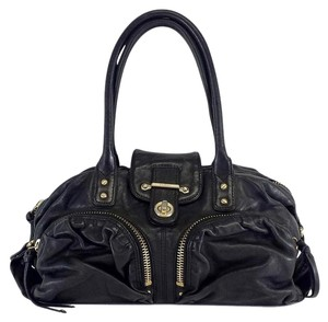 Botkier Black Leather Gold Hardware Shoulder Bag