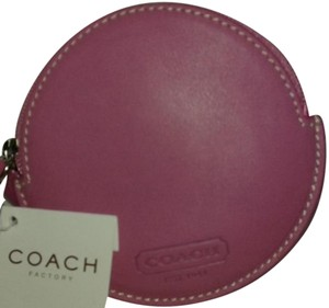 Coach FS8882 SV/OD SV/ORCHID EMB RND COIN PRS ** FREE SHIPPING!**