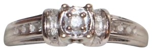 Other 14K WHITE GOLD RING WITH TINY DIAMONDS
