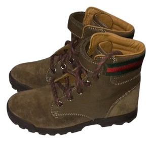 Gucci Brown with green and red stripes Boots