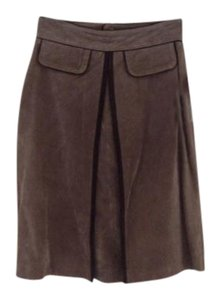 Wilsons Leather Suede Skirt Brown