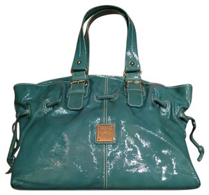 Dooney & Bourke Patent Leather Teal Aqua Satchel in Teal/Aqua