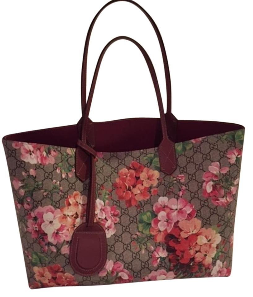 b401357e8 Gucci Bag Blooms Medium Reversible Multicolor/Rose Multicolor/Rose Leather  Tote