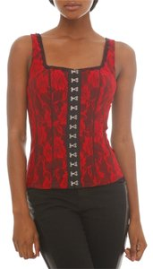 Hot Topic Top Red & Black