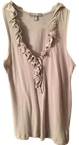 Tinley Road Sleeveless Going Blouse With Ruffle Neck Top