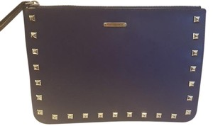 Rebecca Minkoff Leather Studded Wristlet in Blue