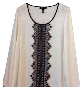 Style & Co Top Black, white