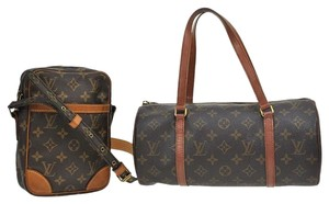 Louis Vuitton Papillon 30 Satchel in Brown