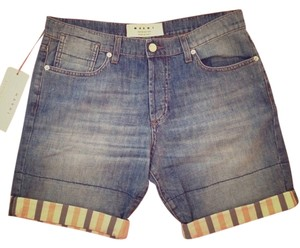 Marni Bermuda Shorts Denim w/Stripe