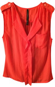 Renee C. Sexy Night Out Sleeveless Red Going Out Orange Going Out Work Top