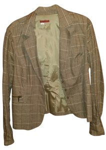 Tapemeasure Plaid-Brown/Orange/Beige Blazer