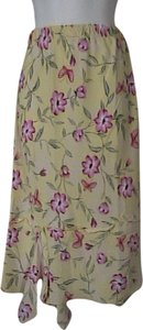 Sag Harbor Skirt Yellow Floral