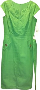 Sharagano short dress Green on Tradesy