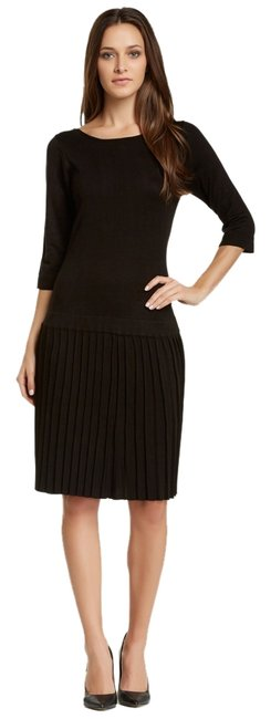 Preload https://item5.tradesy.com/images/marc-new-york-black-34-sleeve-pleated-sweater-knee-length-workoffice-dress-size-2-xs-1858424-0-0.jpg?width=400&height=650