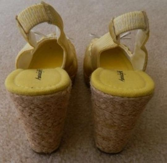 American Eagle Outfitters yellow and white Wedges