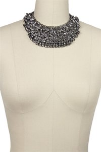 SAACHI Saachi Gunmetal Crystal Collar Necklace