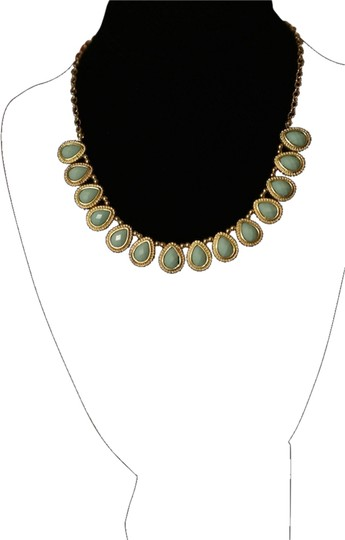 Other Gold and Mint Green Petal Necklace