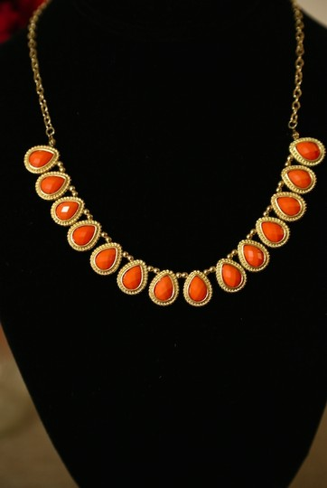 Other Gold and Coral Pink Petal Necklace