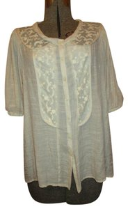 Cynthia Rowley Lace Top beige