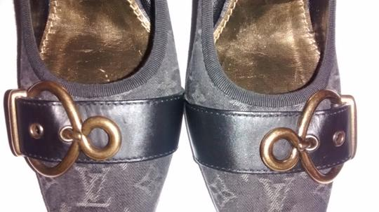 Louis Vuitton Size 37.5 Black/grey Monogram Denim Pumps